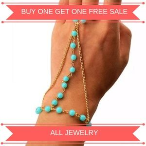 Jewelry - Blue & Gold Bracelet with Ring